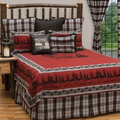Moose 7 Piece Coverlet Set Size: King