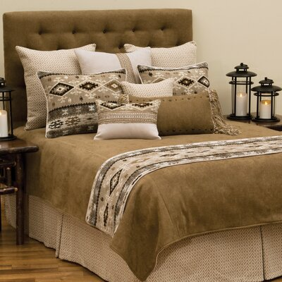 Mountain Storm 4 Piece Reversible Coverlet Set Size: Super Queen