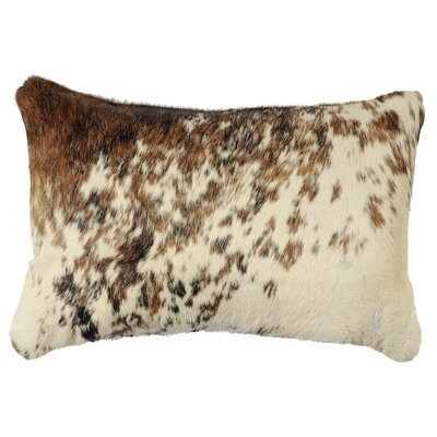 Teddy Leather Lumbar Pillow Back Material: Hide