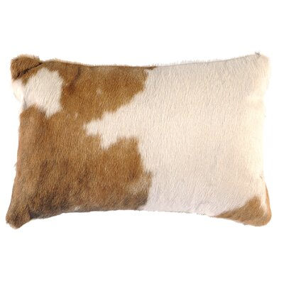 Leather Lumbar Pillow Back Material: Hide