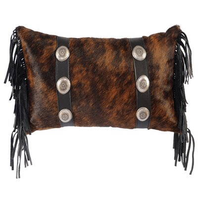 Conchos Leather/Suede Throw Pillow Color: Brown