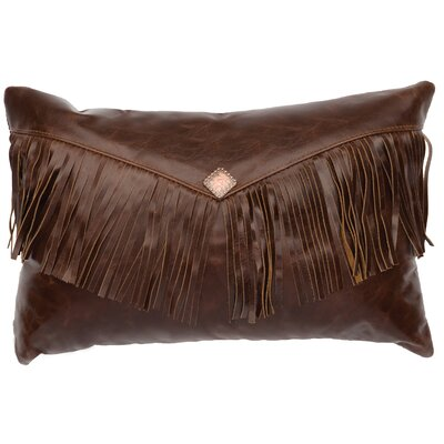 Leather/Suede Lumbar Pillow