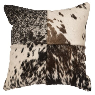 Accessory Pillows Speckled Hair on Hide with Stitched Front Throw Pillow