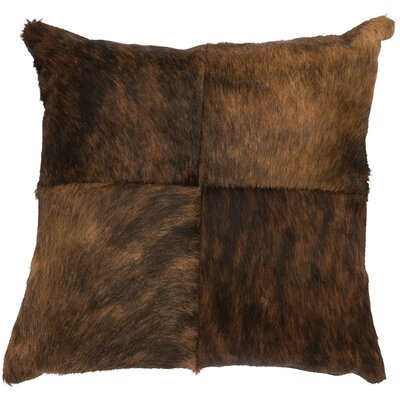 Hair on Hide Leather Throw Pillow