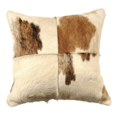 Leather Throw Pillow Back Material: Suede