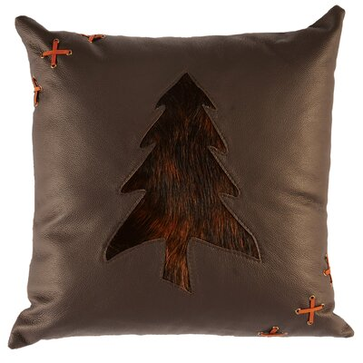 Leather Throw Pillow Back Material: Hide