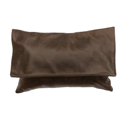 Hudson Leather Lumbar Pillow