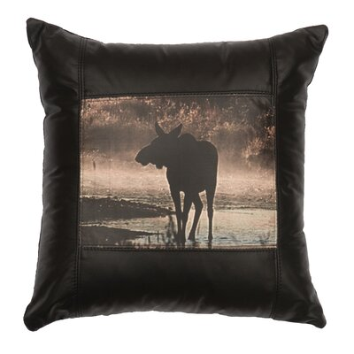 Moose Hollow Moose Leather Throw Pillow