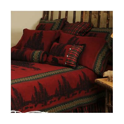 Wooded River Bear Bedspread Size: Super King