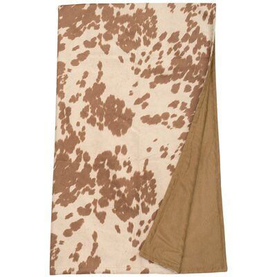 Faux Hair on Hide Throw Blanket Color: Udder Cream