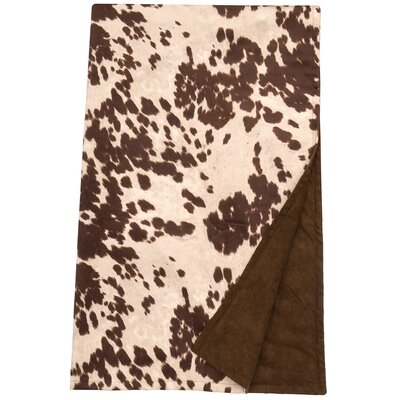 Faux Hair on Hide Throw Blanket Color: Udder Brown