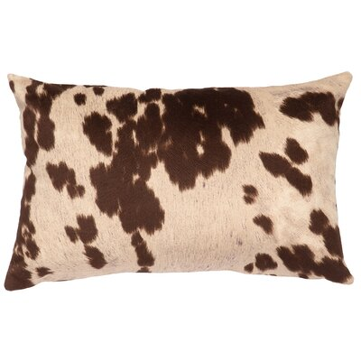 Faux Hair on Hide Lumbar Pillow Color: Udder Brown