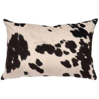 Faux Hair on Hide Lumbar Pillow Color: Udder Domino