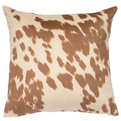 Faux Hair on Hide Throw Pillow Color: Udder Cream