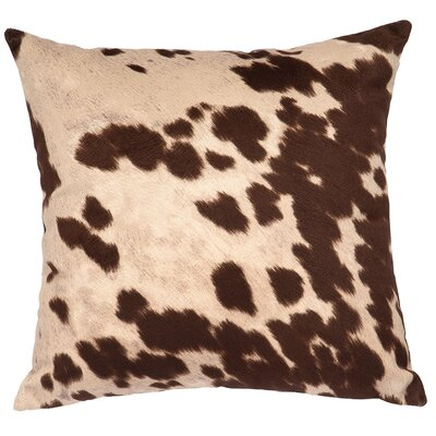 Faux Hair on Hide Throw Pillow Color: Udder Brown