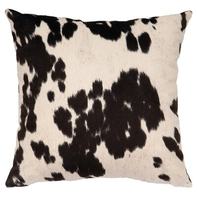 Faux Hair on Hide Throw Pillow Color: Udder Black