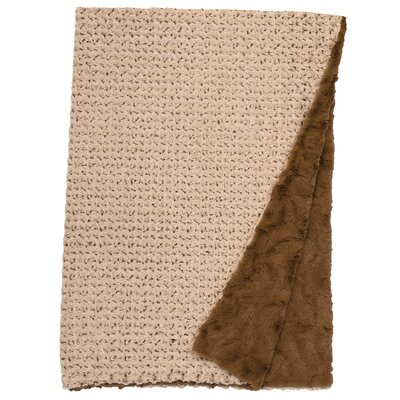 Bella Rosebud Faux Fur Throw