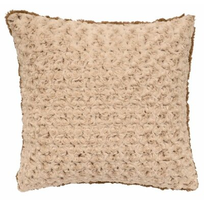 Bella Rosebud Faux Fur Throw Pillow