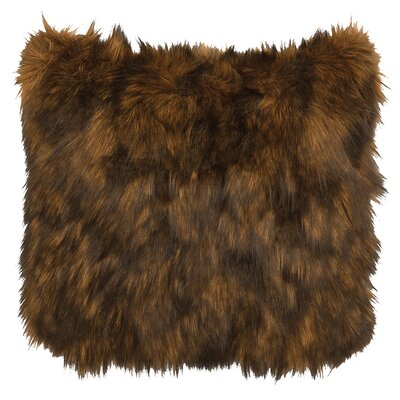 Grizzly Faux Fur Euro Sham Cover