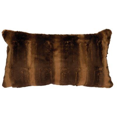 Beaver Brown Faux Fur Lumbar Pillow