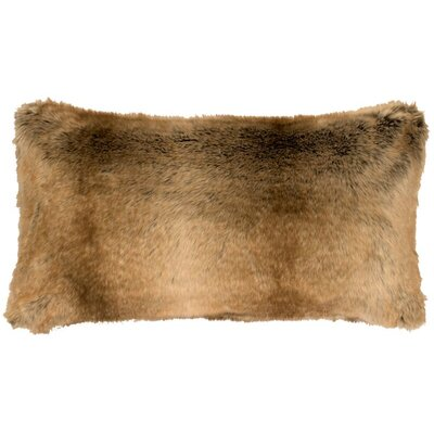 Chinchilla Faux Fur Lumbar Pillow