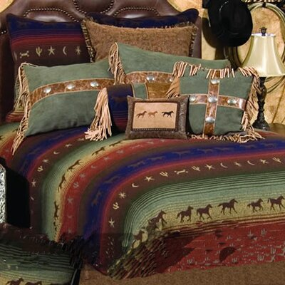 Mustang Canyon 7 Piece Coverlet Set Size: Queen