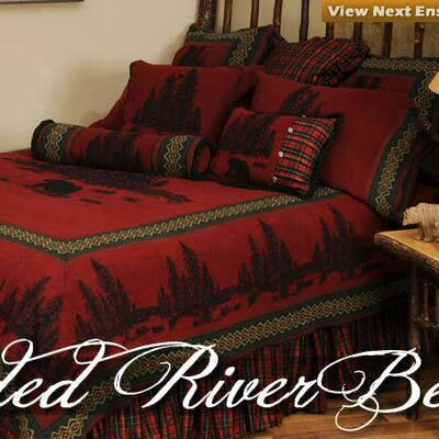 Wooded River Bear 4 Piece Coverlet Set Size: California King