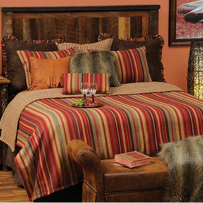 Bandera 7 Piece Reversible Coverlet Set Size: California King