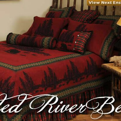 Wooded River Bear 7 Piece Coverlet Set Size: Queen