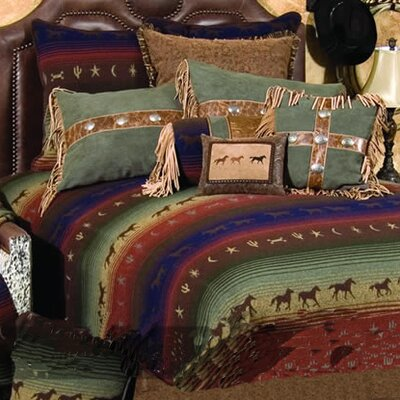 Mustang Canyon Bedspread Size: Super King