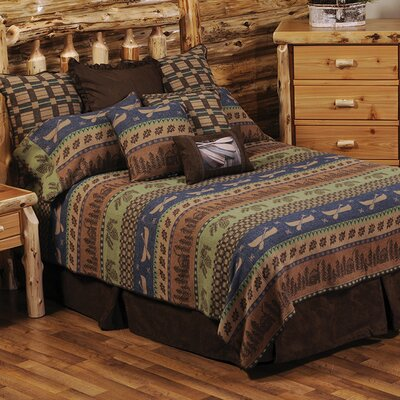 Lake Shore Coverlet Size: California King