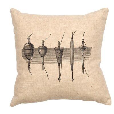 Linen Image Throw Pillow Color: Khaki Bobbers