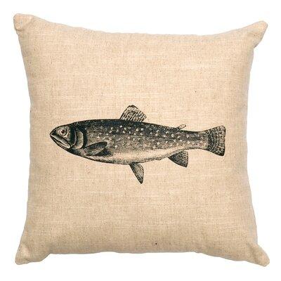 Linen Image Throw Pillow Color: Khaki Trout