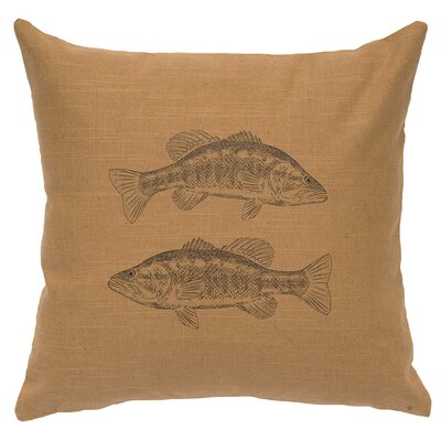 Linen Image Throw Pillow Color: Khaki 2 Bass