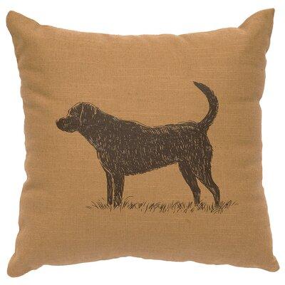 Linen Image Throw Pillow Color: Khaki Lab