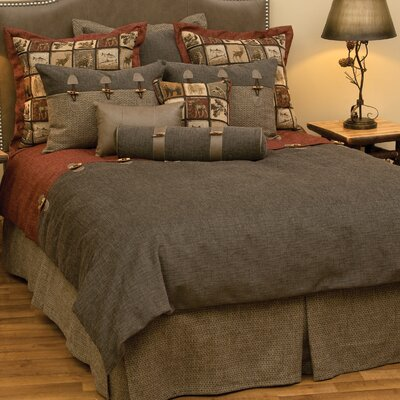 Silver Thicket 4 Piece Duvet Cover Set Size: California King