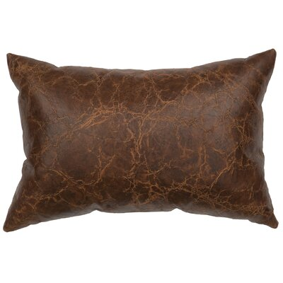 Embossed Leather Lumbar Pillow