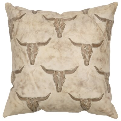 Embossed Leather Throw Pillow