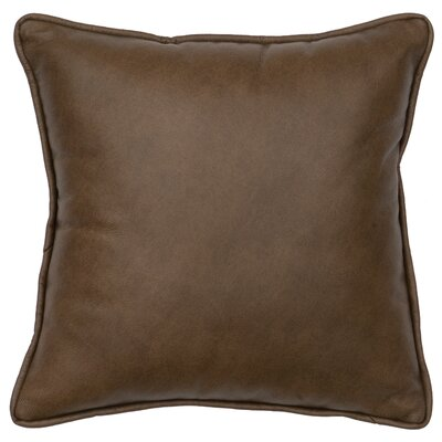 Caribou Leather Throw Pillow