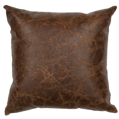 Appalachian Leather Throw Pillow