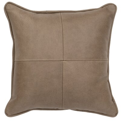 Valiant Leather Throw Pillow
