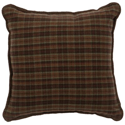 Six Premier Plaid Throw Pillow