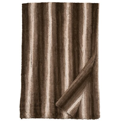 Angora Ash Cuddle Fur Throw