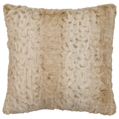 Pearl Leopard Cuddle Fur Throw Pillow