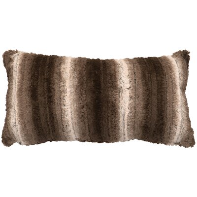 Angora Ash Cuddle Fur Lumbar Pillow