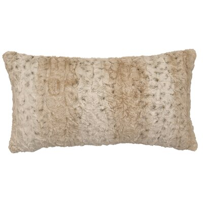 Pearl Leopard Cuddle Fur Lumbar Pillow