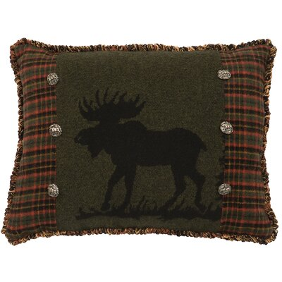Moose Wool Throw Pillow