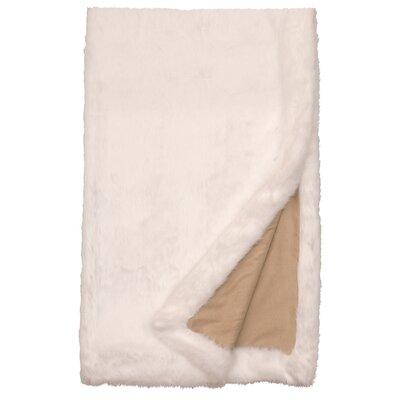 Faux Fur Throw Color: White Mink