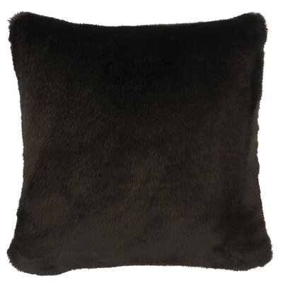 Faux Fur Throw Pillow Color: Black Sable