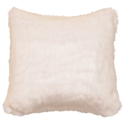 Faux Fur Throw Pillow Color: White Mink